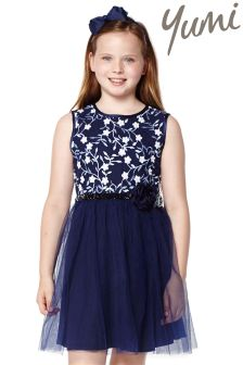 Yumi Girl Embroidered Dress