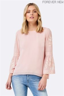 Forever New Flare Sleeve Blouse