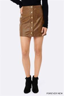 Forever New PU Skirt