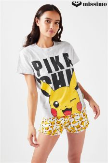 Missimo Pokemon Ladies 'Pikachu' Shorty PJ Set