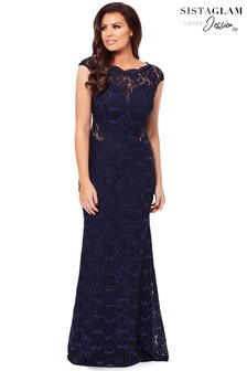 Jessica Wright Petite Eliora Sequin Lace Maxi Dress