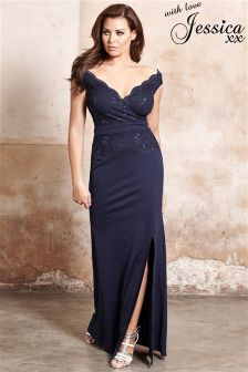 Jessica Wright Petite Shayda Sequin Lace  2 In 1 Maxi Dress