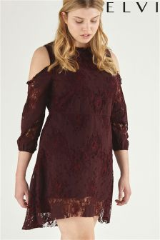 Elvi Cold Shoulder Lace Top