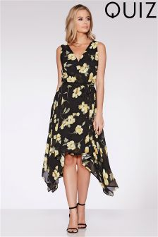 Quiz Chiffon Wrap Front Dress