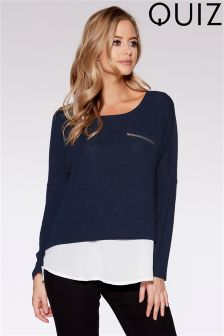 Quiz Chiffon Light Knit Jumper