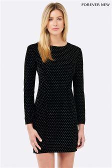 Forever New Velvet Spot Bodycon Dress