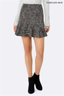 Forever New Tweed Kick Hem Mini Skirt