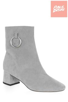 Public Desire Aruba Metal Ring Ankle Boots