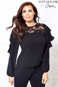Jessica Wright Lace Frill Blouse