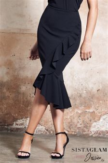 Jessica Wright Midi Wrap Frill Ruffle Skirt