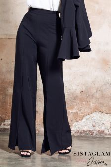 Jessica Wright Wide Leg Mid Split Tailored Trousers