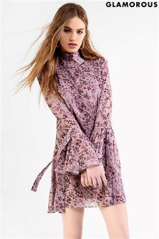 Glamorous Tie Sleeve Smock Dress