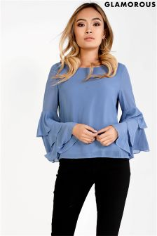 Glamorous Frill Sleeve Top