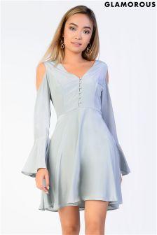 Glamorous Cold Shoulder Skater Dress