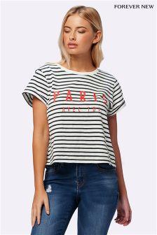 Forever New Petite Paris Stripe Crop Tee