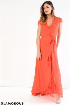 Glamorous Petite Wrap Front Maxi Dress