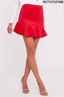 PrettyLittleThing Verity Flippy Hem Mini Skirt
