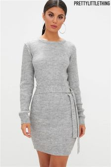 PrettyLittleThing  Silver Grey Jumper Dress