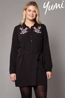 Yumi Curve Embroidered Tunic Dress