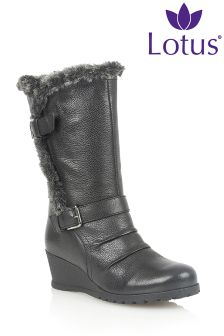 Lotus Wedge Calf Boot