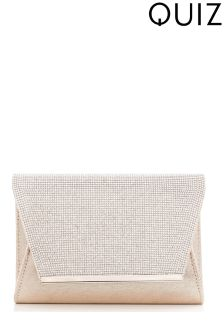 Quiz Shimmer Envelope Clutch Bag