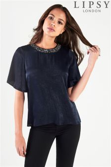 Lipsy Embellished Neck Top
