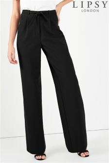 Lipsy Tie Front Wide Leg Trousers