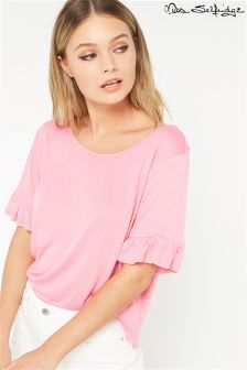 Miss Selfridge Ruffle Sleeve Tee