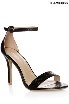 Glamorous Snake Barely There Sandals