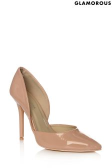 Glamorous Two Part Patent Court Shoes