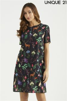 Unique 21 Forest Print Dress
