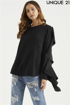 Unique 21 Ruffle Sleeve Blouse
