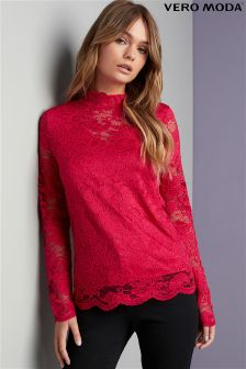 Vero Moda Highneck Lace Top