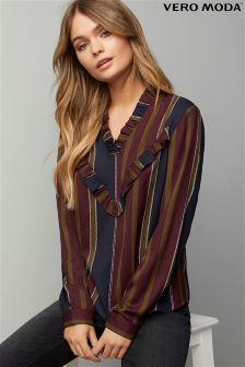 Vero Moda Frill Stripe Shirt