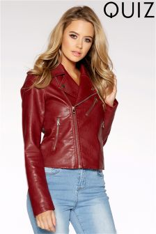 Quiz PU Biker Jacket