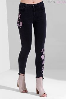 Urban Bliss Embroidered Skinny Jeans