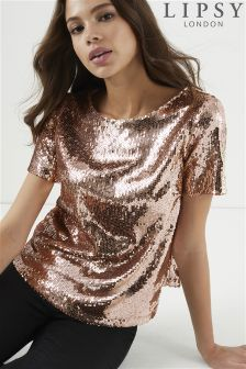 Lipsy All Over Sequin Crop Top