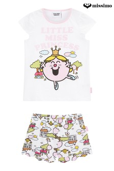 Missimo Girls Little Miss Princess Shorty PJ Set