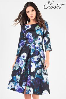 Closet floral midi dress