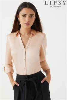 Lipsy Long Sleeve Satin Shirt
