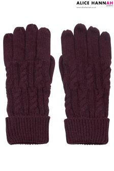 Alice Hannah Ribbed Knit Gloves
