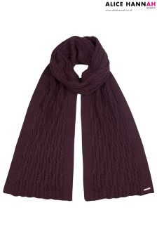 Alice Hannah Ribbed Knit Scarf
