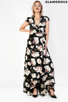 Glamorous Ruffle Wrap Over Dress