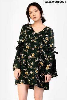 Glamorous Printed Smock Dress