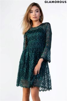 Glamorous Lace Skater Dress
