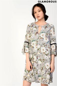 Glamorous Floral Printed Smock Dress