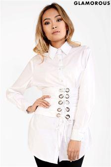 Glamorous Corset Belt Shirt