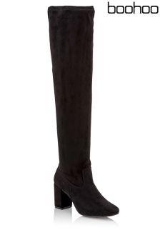 Boohoo High Heel Over The Knee Boots