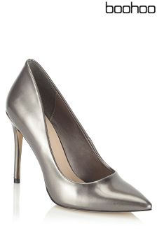 Boohoo Patent Pointed Court Heels