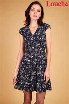 Louche Floral Print Tea Dress